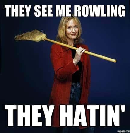 JK Rowling meme