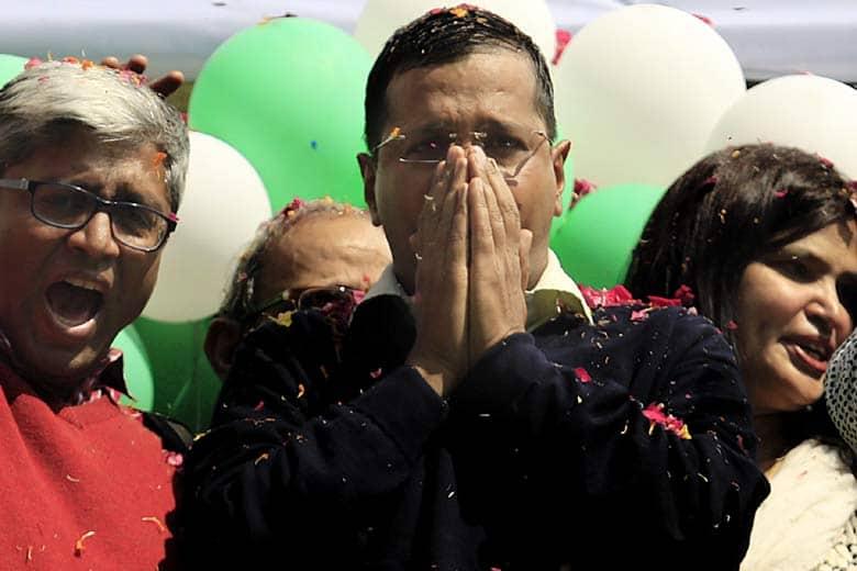 Kejriwal-AAP-victory
