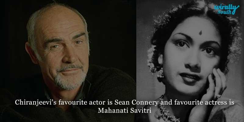 Chiranjeevi's Favorite stars