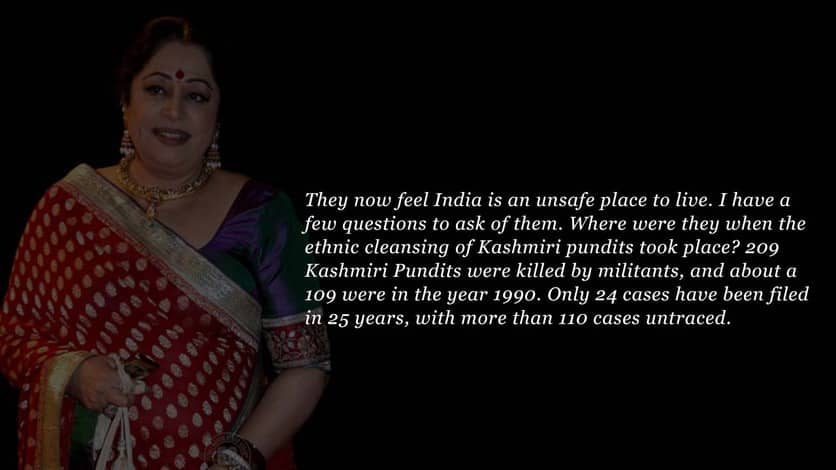 Kirron Kher speech in Parliament