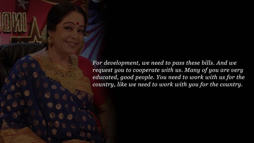Kirron Kher speech in Indian Parliament