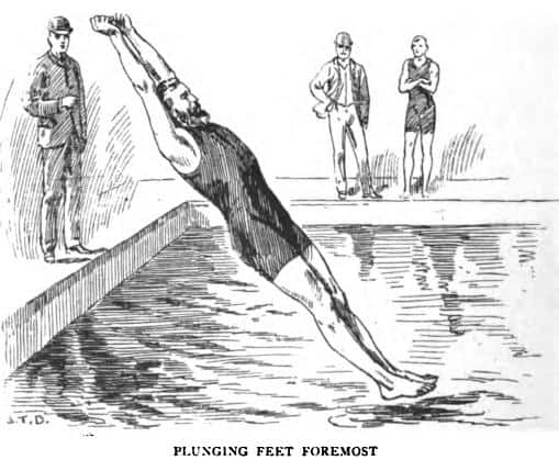 Plunging for distance Olympics