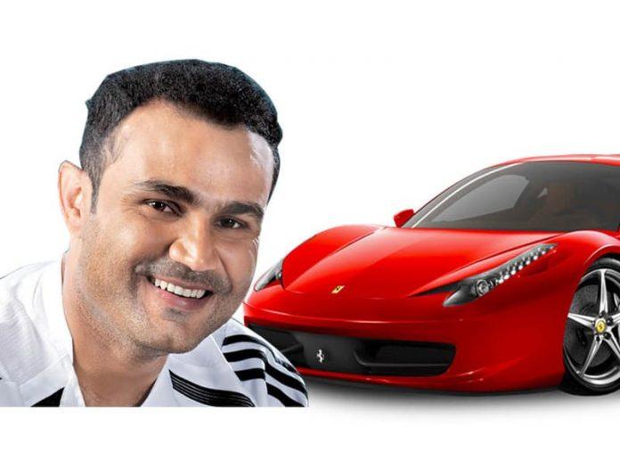 Sehwag Ferrari