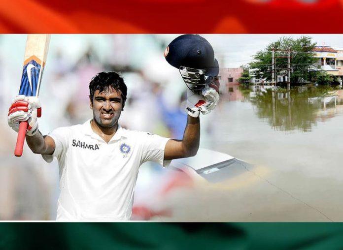 R. Ashwin, Chennai floods,Ashwin