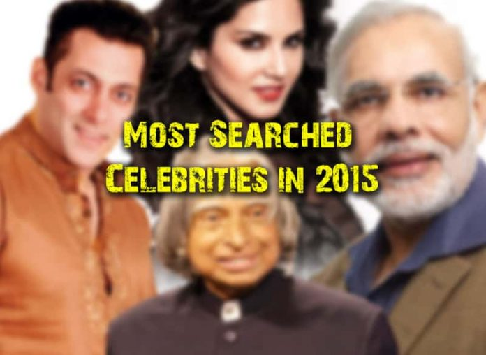 Most searched celebrities in India 2015