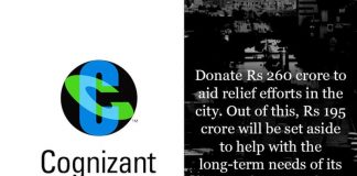 Cognizant,chennai flood relief funds