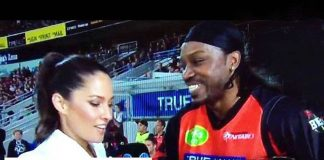 Chris Gayle flirt