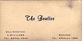 1960 - Beatles cartão