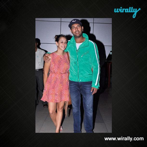 Yuvraj Singh & Helen Keech