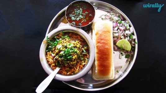 Kothimbir Vadi and Misal Pav