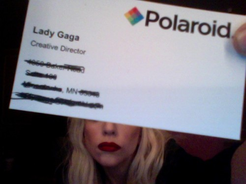 Lady-Gaga-Polaroid-Business-Card-500x375