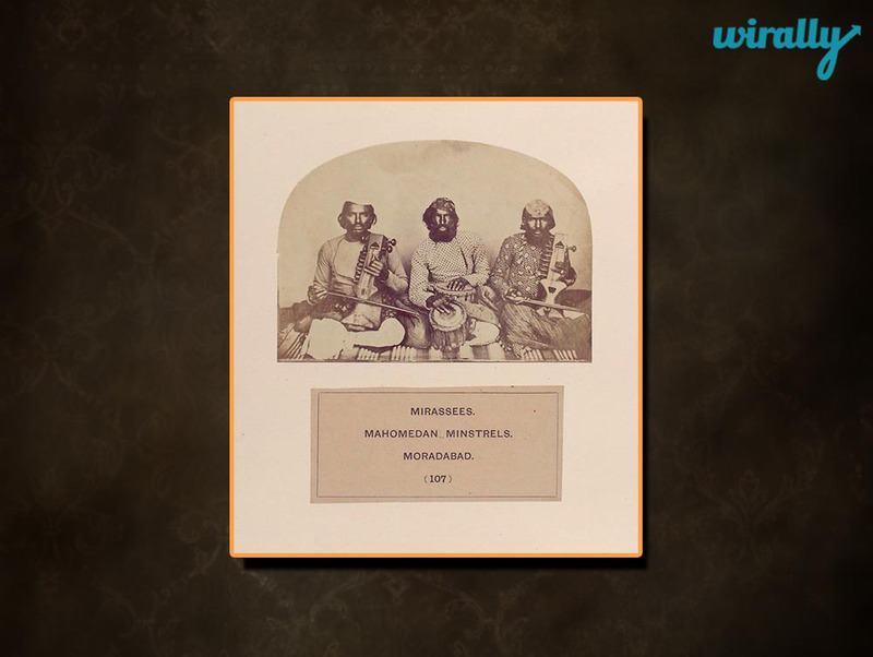 Mirasees, Mahomedan minstrels, Moradabad.