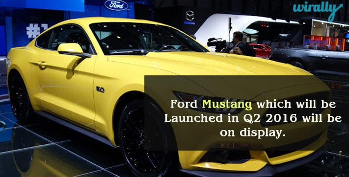 Ford Mustang In Auto Expo 2016