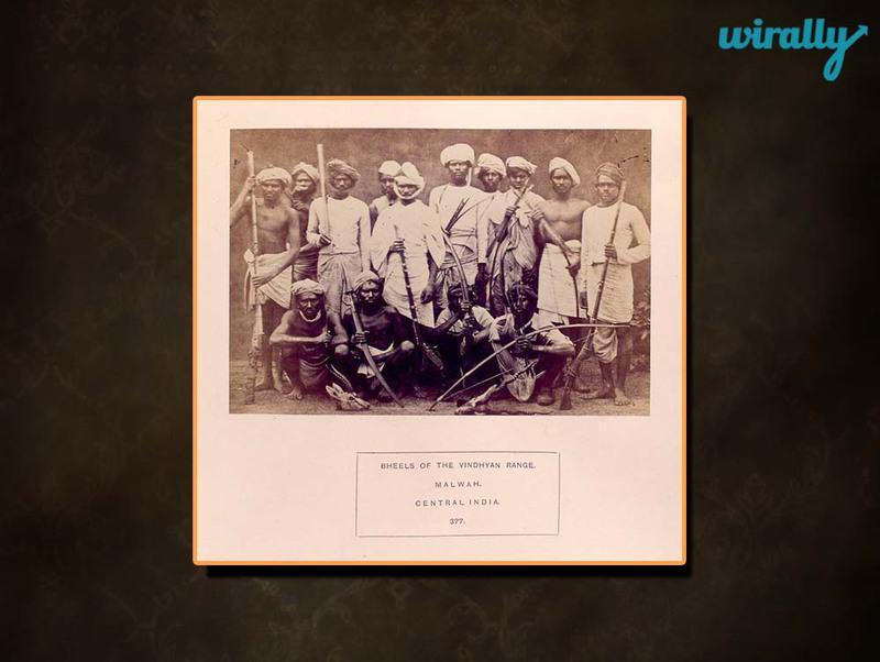 Bheels of the Vindhyan Range, Malwah, Central India.