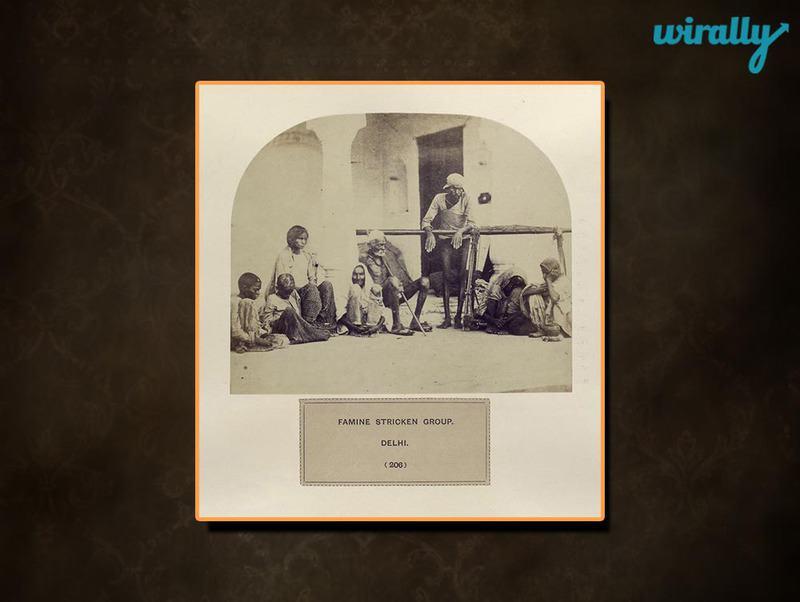 Famine stricken group, Delhi.
