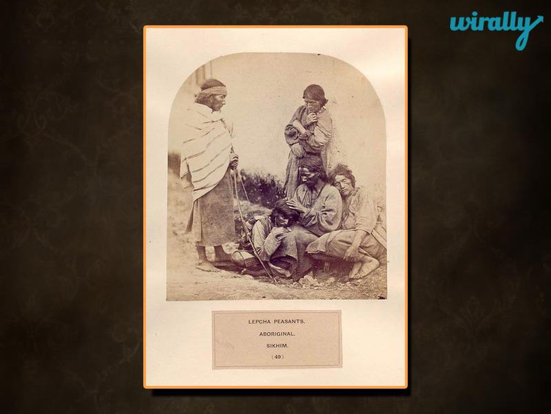 Lepcha peasants, aboriginal, Sikhim.