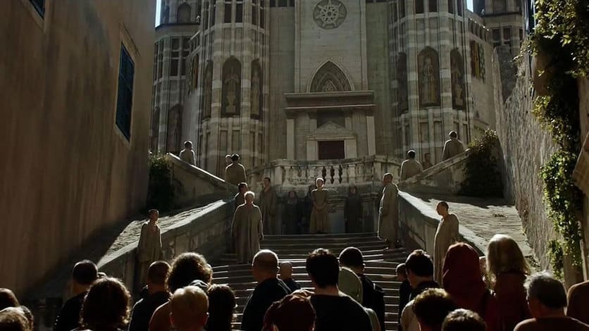 """Baroque Staircase (Dubrovnik) and the Famous """"Shaming"""" scene1"""