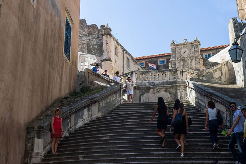 """Baroque Staircase (Dubrovnik) and the Famous """"Shaming"""" scene2"""