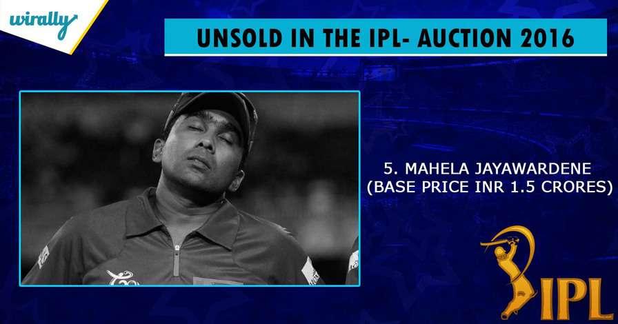 Mahela Jayawardene-unsold players in IPL 2016