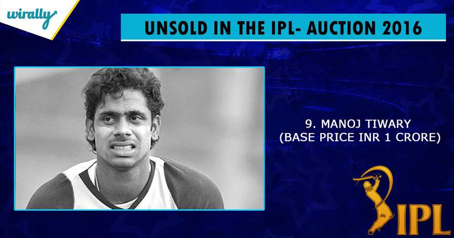 Manoj Tiwary-unsold players in IPL 2016