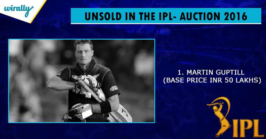 Martin Guptill-unsold players in IPL 2016