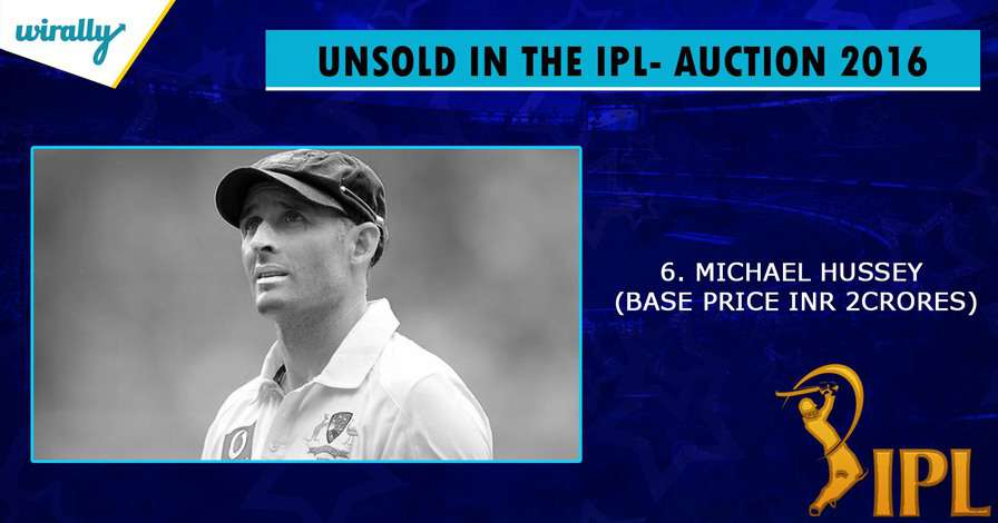 Michael Hussey-unsold players in IPL 2016