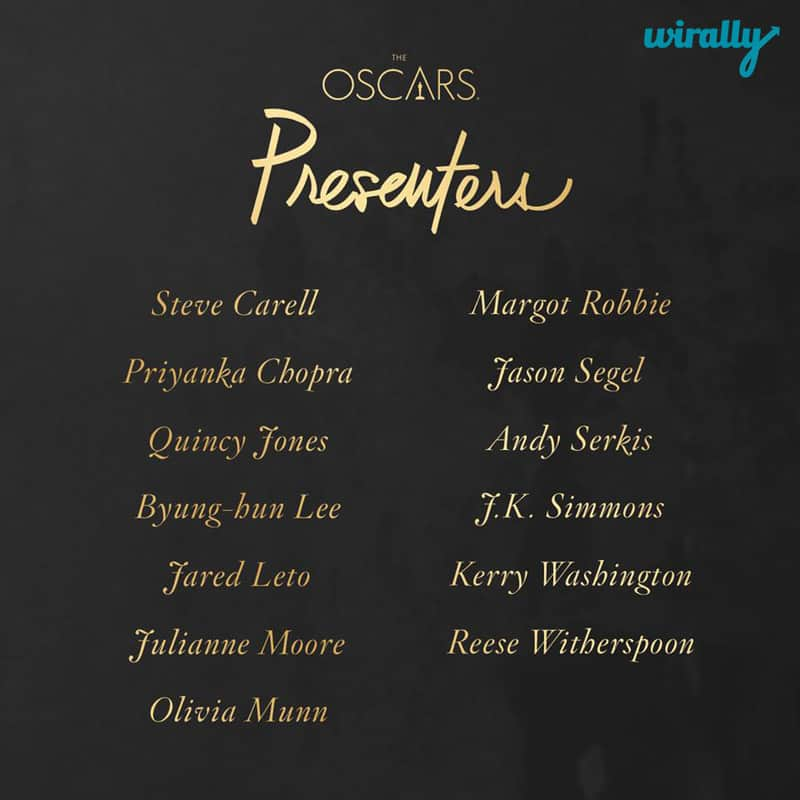 Oscars 2016 Presenter List
