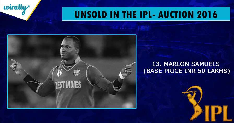 Samules-unsold players in IPL 2016