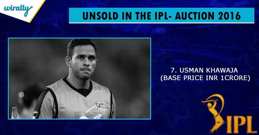 Usman Kwaja-unsold players in IPL 2016