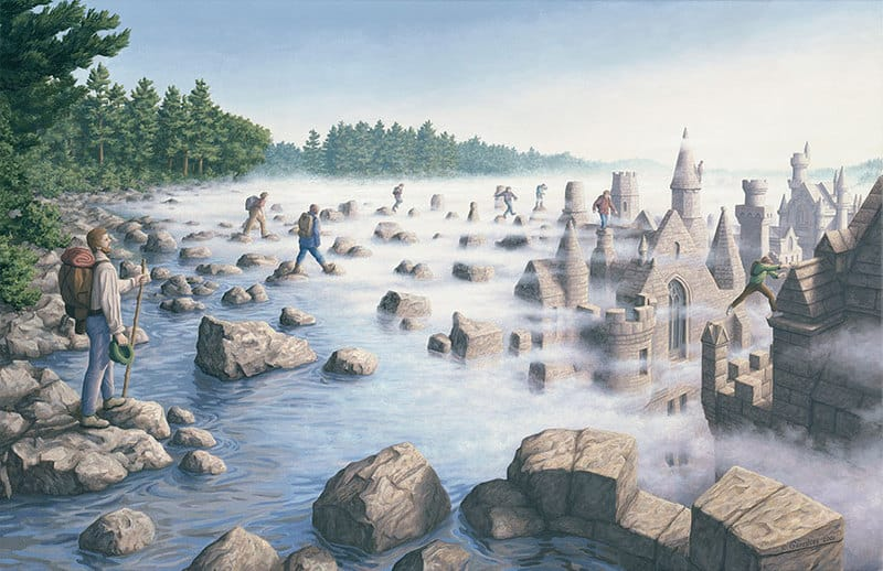 Logic bending paintings-gonsalves