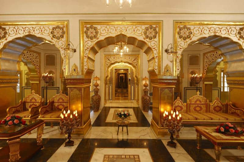 Suite chosen in Shahi Raj Mahal, Jaipur, India-most expensive Valentine's gifts