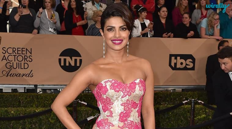 Priyanka Chopra arrives at the 22nd annual Screen Actors Guild Awards at the Shrine Auditorium & Expo Hall on Saturday, Jan. 30, 2016, in Los Angeles. (Photo by Jordan Strauss/Invision/AP)