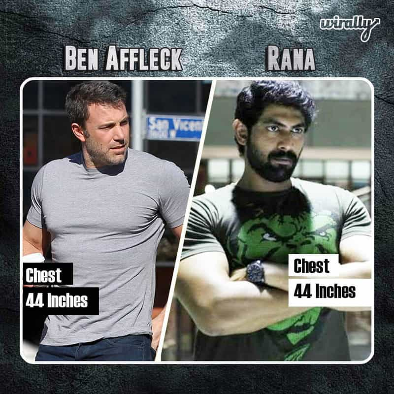 Ben Affleck Chest 44 Inches And Rana 44 Inches