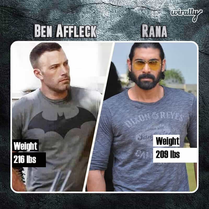 Ben Affleck Weight 216 lbs And Rana 209 lbs