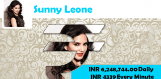 Sunny leone,Sunny leone income,Sunny leone salary,Sunny leone cost