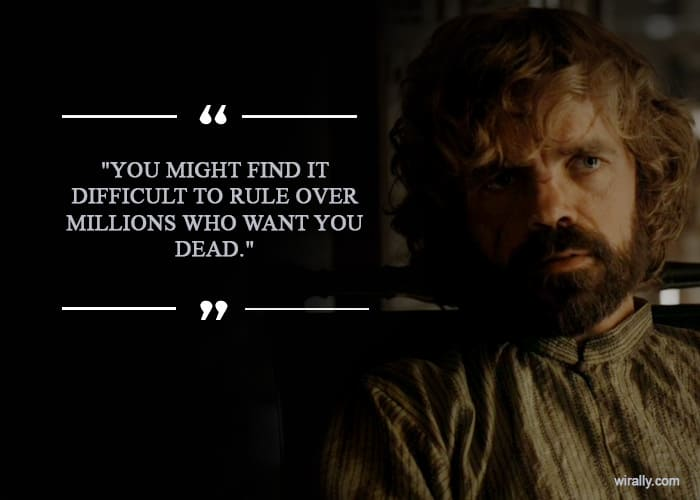 The Red Wedding Season.16 Quotes By Tyrion Lannister That Prove He Is The Red God Of Game