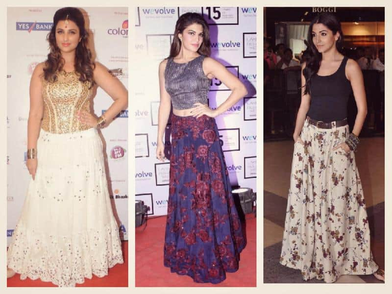 Bollywood-Celebs-in-Long-Skirts-Jacqueline-Pariniti-and-Anushka