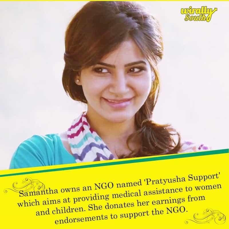 Samantha owns an NGO named