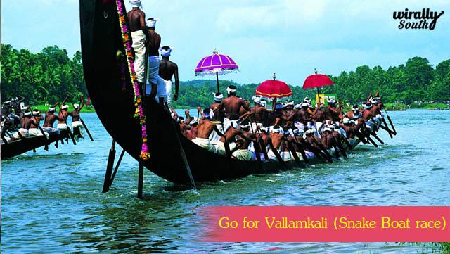 Go for Vallamkali Snake Boat race
