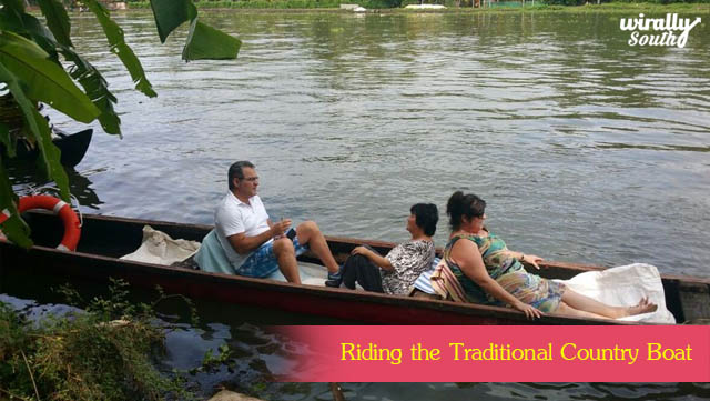 Riding the Traditional Country Boat