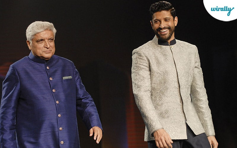 Javed Akhtar and Farhan Akhtar