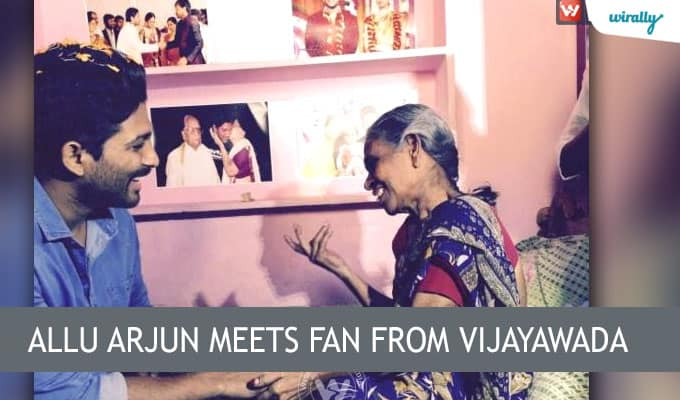 Allu Arjun meets fan from Vijayawada