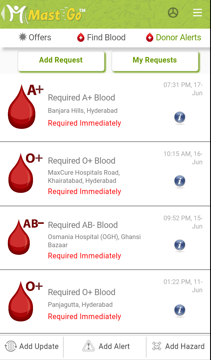 Donor Alerts