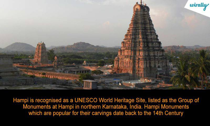 Hampi is recognised as a UNESCO