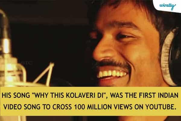 His song Why this Kolaveri Di, was the first Indian video song to cross 100 million views on YouTube.