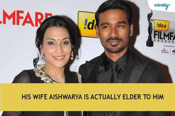 His wife Aishwarya is actually elder to him