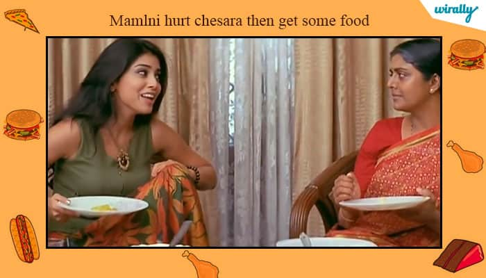 Mamlni hurt chesara then get some food