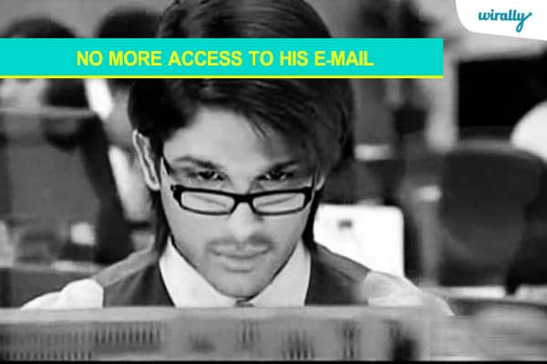No More access to his E-Mail