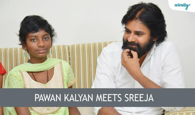 Pawan Kalyan meets Sreeja