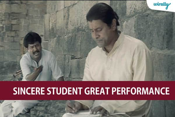 Sincere student great performance